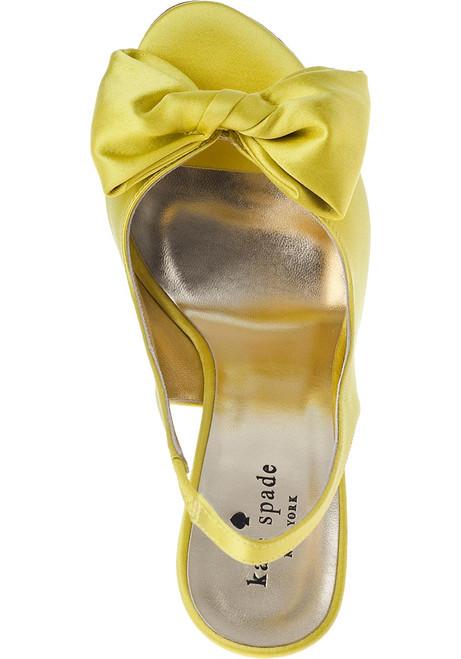 1da4c5e1ed64 Sarah Evening Pump Yellow Satin - Jildor Shoes