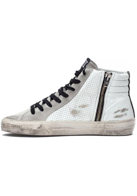 585024474baf Slide Sneaker White Black - Jildor Shoes