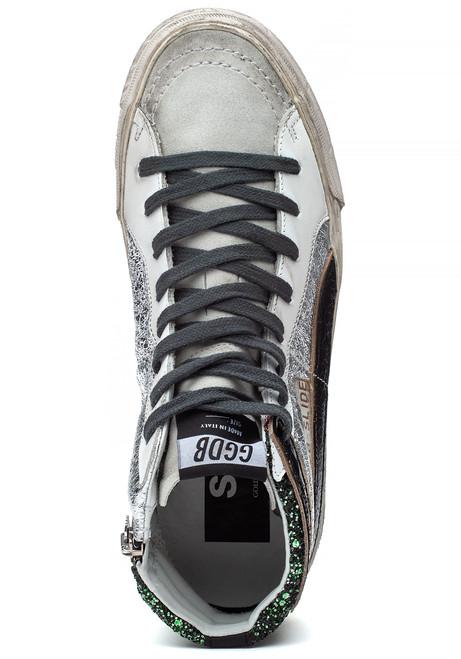 811eaf5da938 Slide Sneaker Green Glitter - Jildor Shoes