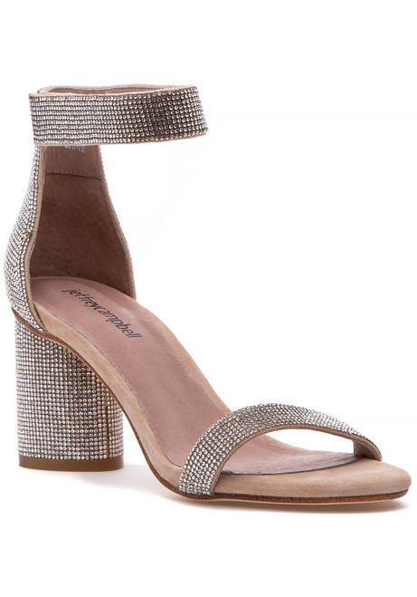 b449e91d1ff Laura Sandal Nude Suede Champagne.  160.00. Jeffrey Campbell