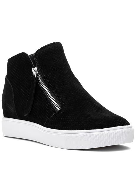 5d7a964bcf8 Caliber Sneaker Black Suede.  90.00. Steve Madden