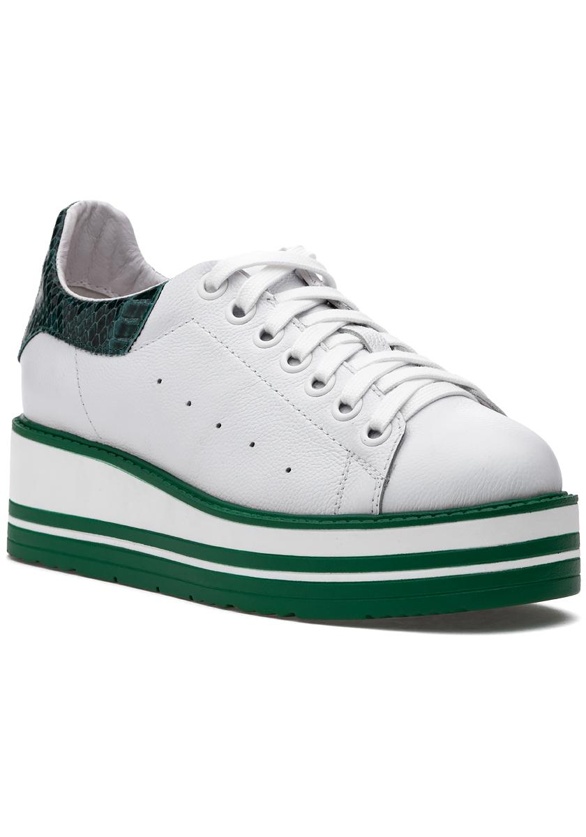 Siobhan Sneaker White/Emerald - Jildor