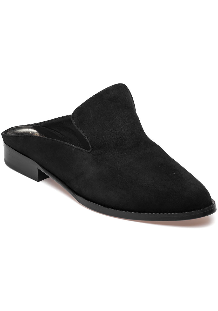 dca0cb72b927 Alice Black Suede Slip On Mule - Jildor Shoes