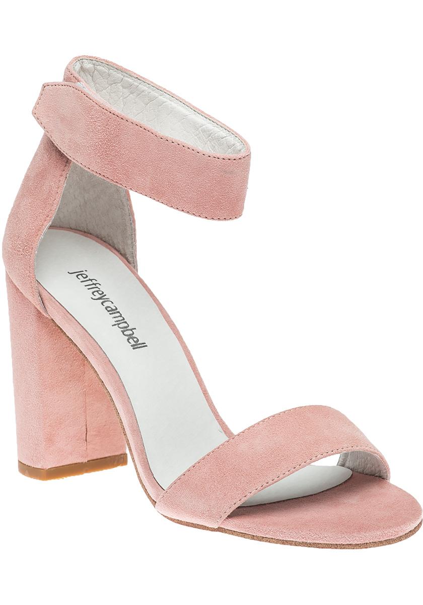 Lindsay Sandal Light Pink Suede