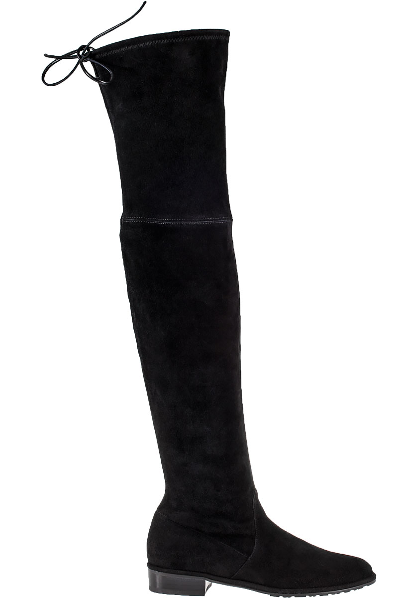 91b1319d3b3 Lowland Over-The-Knee Boot Black Suede - Jildor Shoes