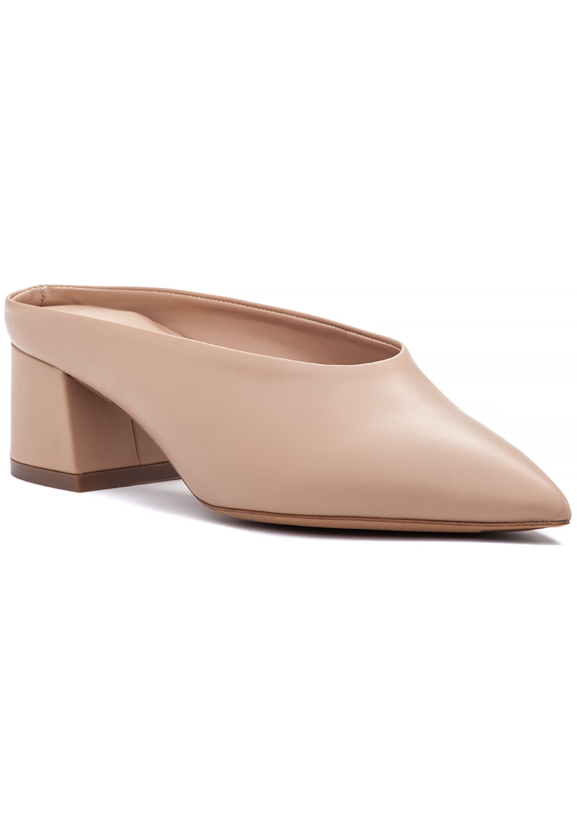 Ralston Mule Nude Leather - Jildor Shoes