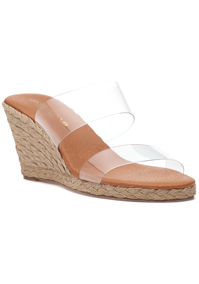 Anfisa Nude anfisa espadrille wedge clear