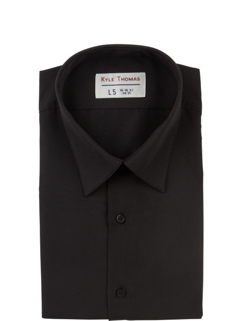Shirt | Dress Shirt with Pocket | (Black)
