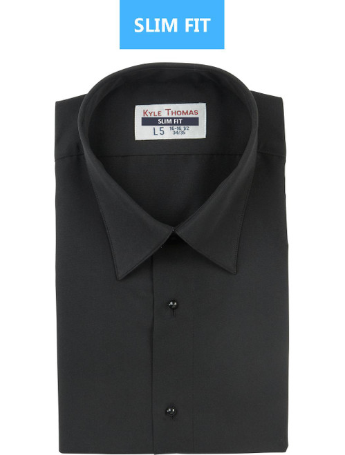 Shirt | Lay Down Microfiber | (Black) | SLIM FIT