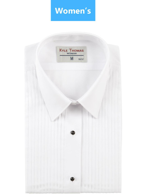 Shirt | Women's | Lay Down 1/4 Inch Pleat | (White)