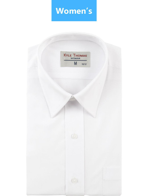 Shirt | Women's | Dress Shirt with Pocket | (White)