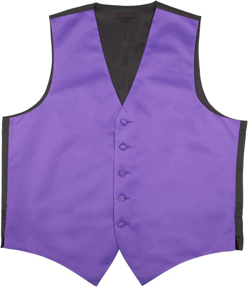 Vest - Classic Collection 5 Button Satin Fullback (Purple) - Kyle Thomas