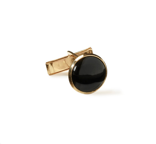 Jewelry | Shirt Cuff Links | Black and Gold | Sold by the Gross