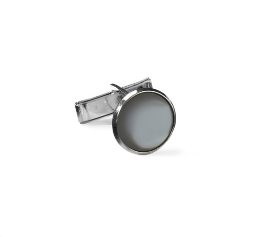 Jewelry | Shirt Cuff Links | Grey and Silver | Sold by the Gross