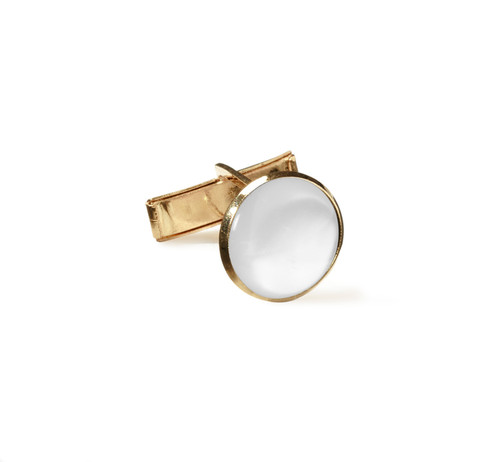Jewelry | Shirt Cuff Links | White and Gold | Sold by the Gross