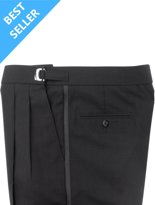 Pants | Tuxedo Pants | Performance Polyester | Adjustable Clip | Pleated