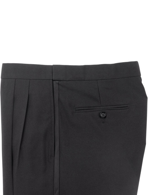 Pants | Tuxedo Pants  | Performance Polyester | Comfort Waist | Pleated Front