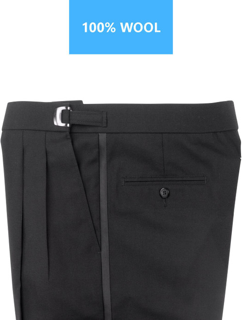 Pants | Tuxedo Pants  | 100% Wool | Adjustable Clip | Pleated