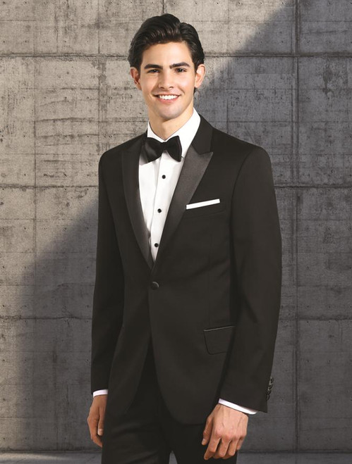 Tuxedo Coat | One Button | Peak Lapel | Polyester