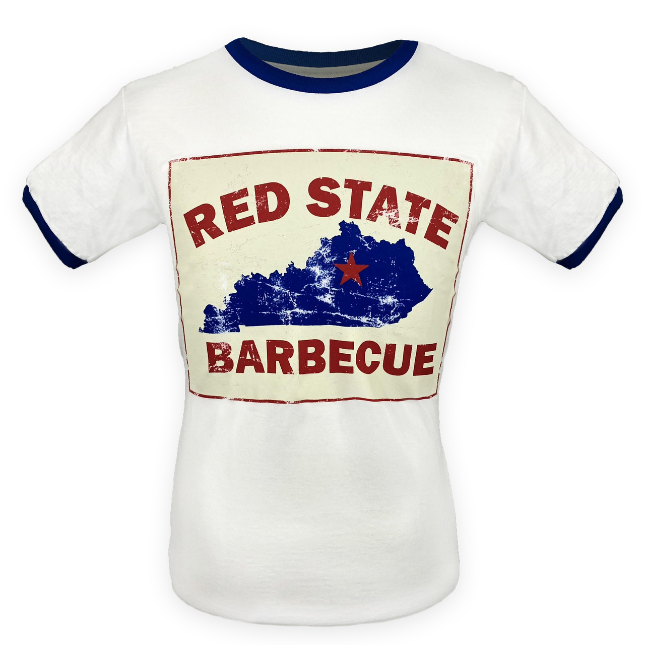Red State BBQ T-shirt with Retro logo.