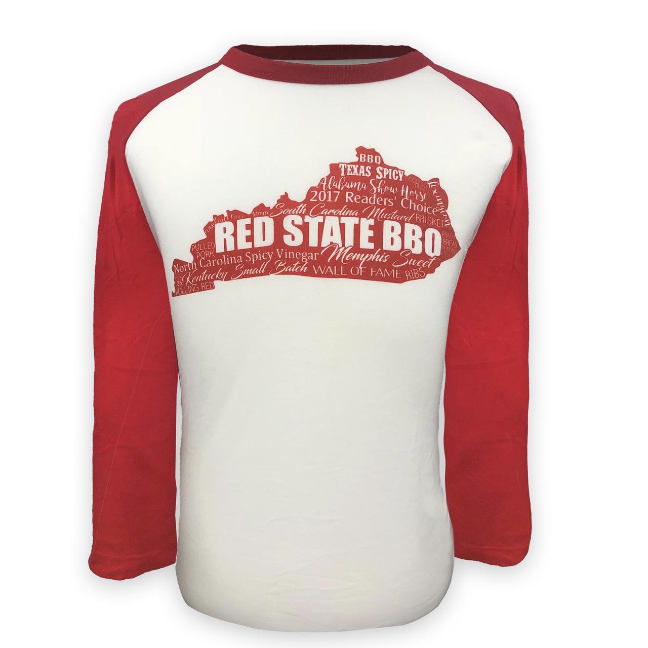 Guys Baseball Tee Red State BBA