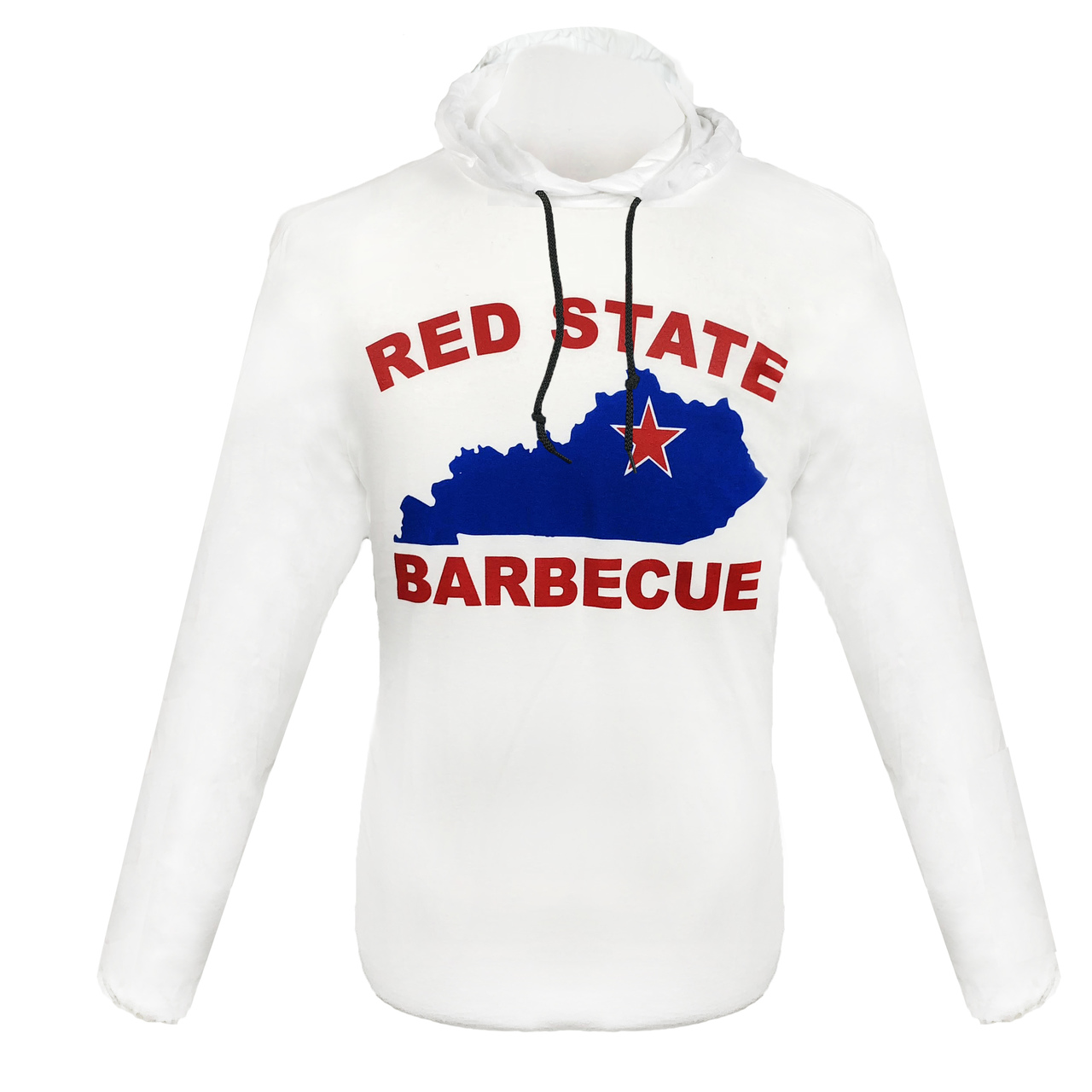 Red State BBQ long sleeve T-shirt hoodie  with Kentucky logo.