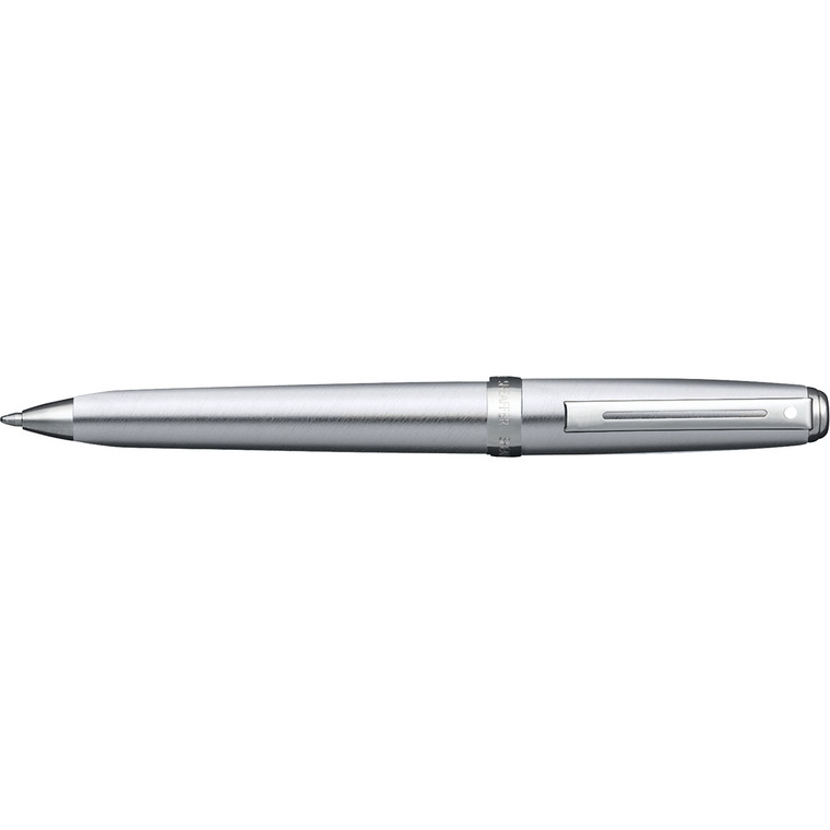 Prelude Brushed Chrome Plate/Nickel Plated Ballpoint Pen