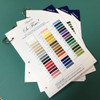 So Fine! #50 Sample Color Cards - 3-ply Polyester Lint-free Machine Quilting Thread