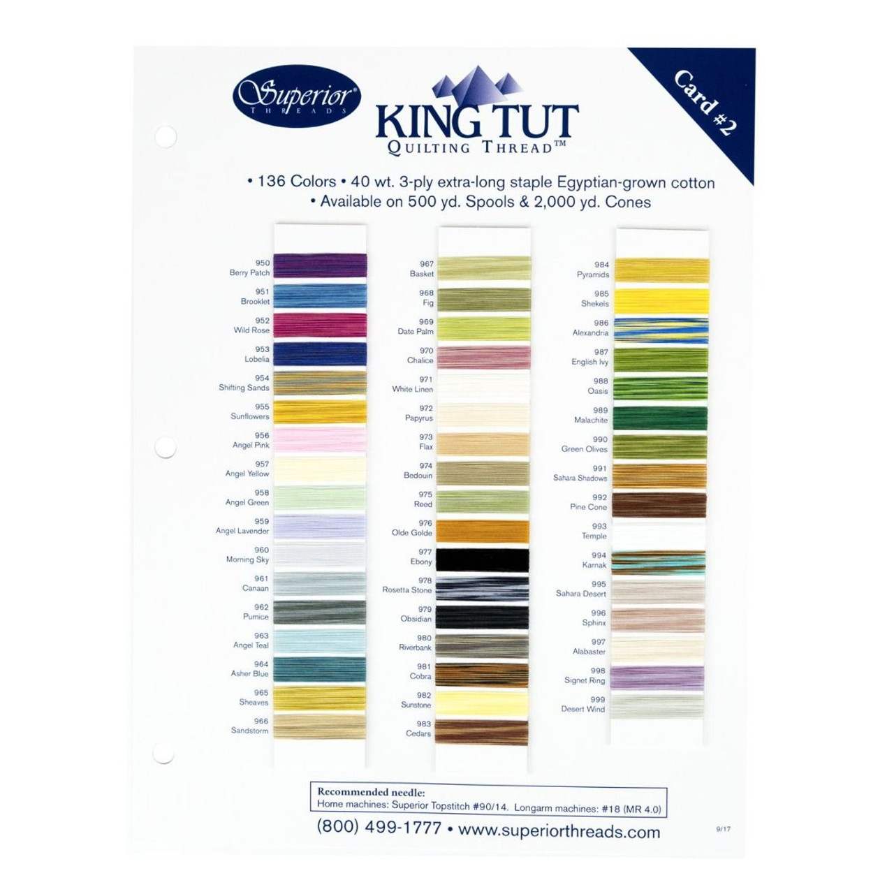 King Tut Cotton Quilting Thread 3-ply 40wt 2000yds Sahara Shadows 991