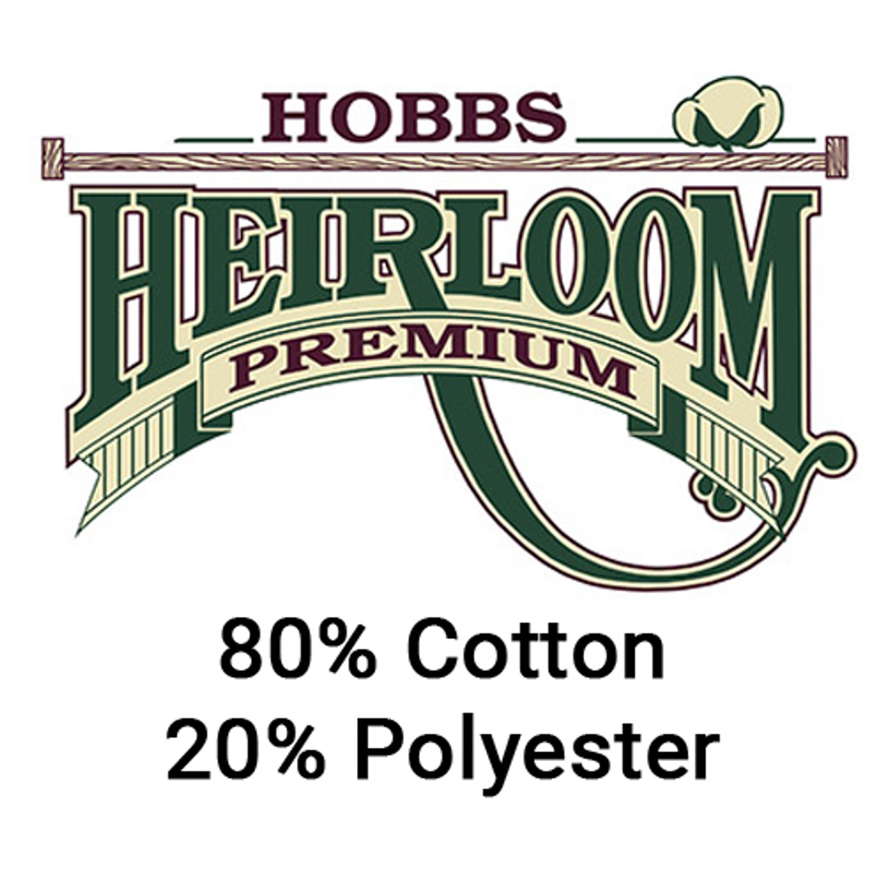 Hobbs Heirloom 80//20 Black Cotton Blend Batting 108 By The Yard