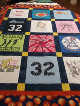Basketball T-Shirt Quilt