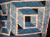 Geometric Blues Quilt