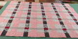 Modern Red Plaid Quilt