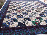 Kaffe Blue & Purple Quilt