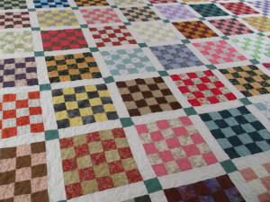 Scrappy Squares Patchwork Quilt