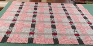 Modern Red Plaid Quilt