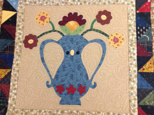 Flower Pot Applique Quilt