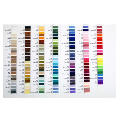OMNI Quilting Thread - Sample Color Card