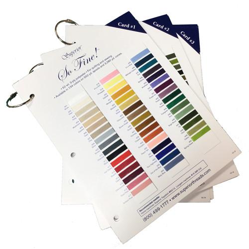 Superior Threads 116-CLRCD So Fine Thread Color Card 3 Card Set