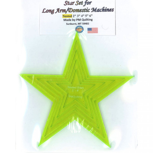 Longarm Star Glow Edge Nested Ruler Set from PM Quilting