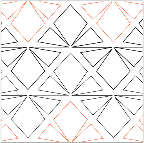 "Horizon 8.5"" Pantograph / E2E Quilting Design on Paper"