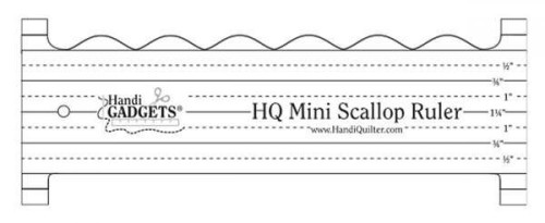 HQ Mini Scallop Ruler from Handi Quilter