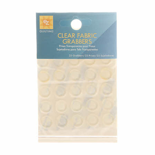 Clear Fabric Grabbers - Set of 25