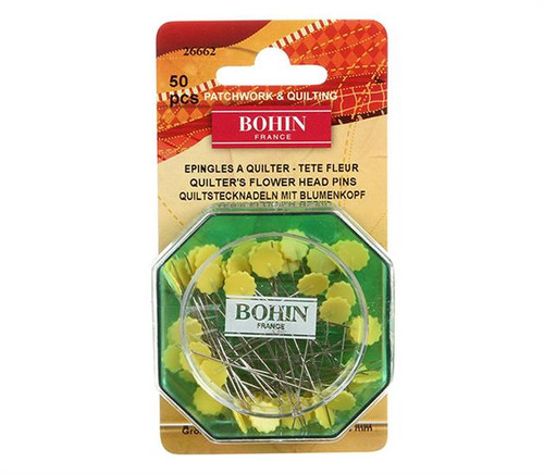 Bohin Flat Flower Head Pins 50ct