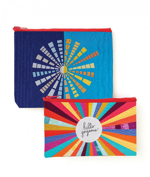 Hello Gorgeous Zippered Eco Pouch Set - Designed by Christina Cameli