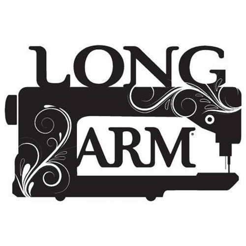 Longarm Quilting Machine White Vinyl Window Decal