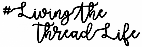 #LivingTheThreadLife Longarm Quilting Static Cling Window Decal - EXCLUSIVE!