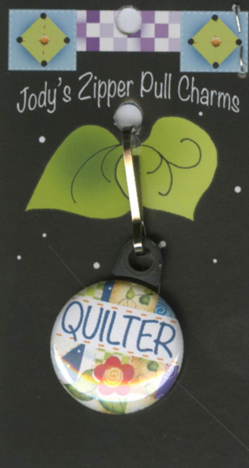 """""""Quilter"""" Zipper Pull Charm"""
