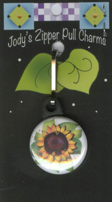 Sunflower Zipper Pull Charm
