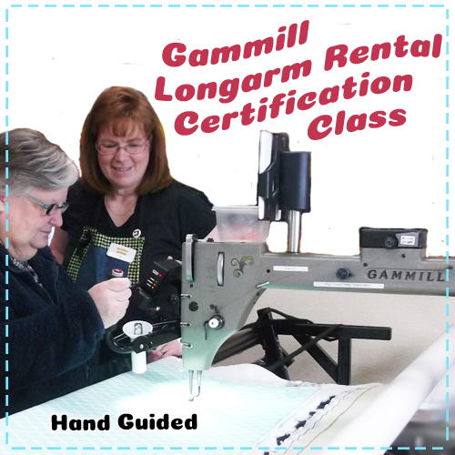 Gammill Longarm Quilting Machine - Beginner Free-Motion Quilting - Rental Certification Class